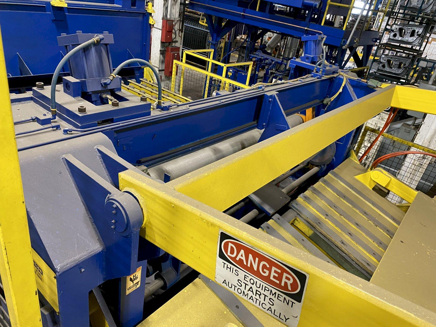 """84"""" X .090"""" X 60,000# AUTOMATIC FEED CO. BLANKING COIL FEEDLINE. STOCK # 1059921"""