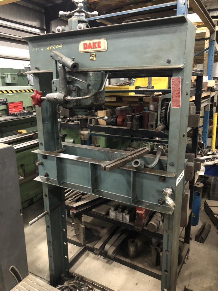 50 ton Dake Hydraulic shop press