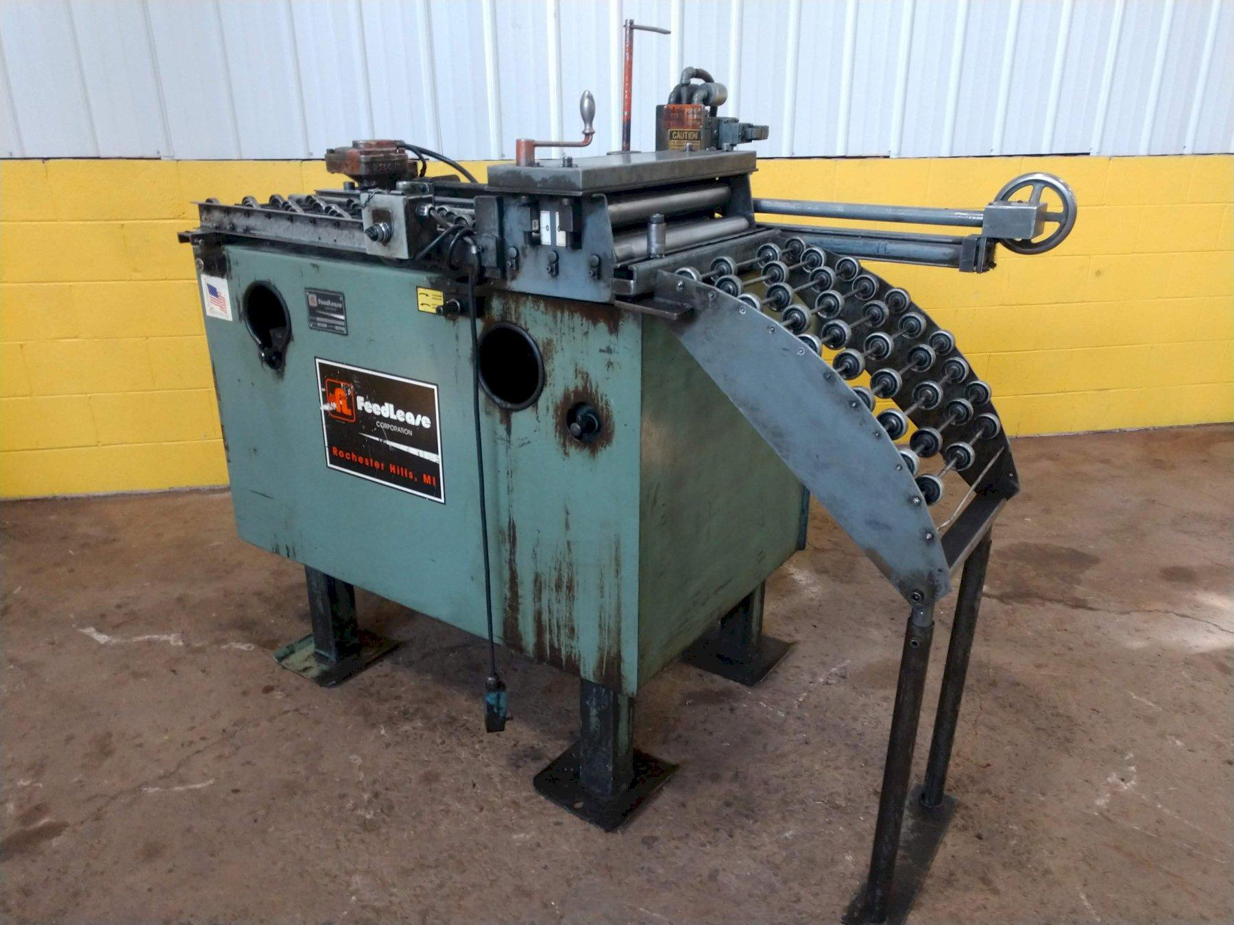 """18"""" WIDE X 30"""" X .060"""" DALLAS & FEED LEASE COIL STRAIGHTENER & AIR  FEED FOR PRESS: STOCK 12735"""