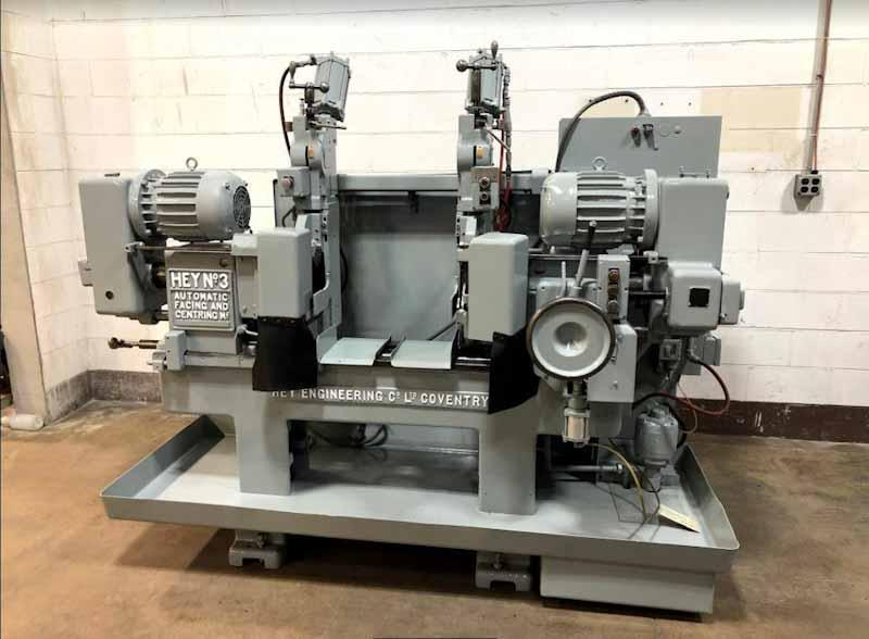 "6"" x 27"" Hey No. 3 Double End Facing And Centering Machine"