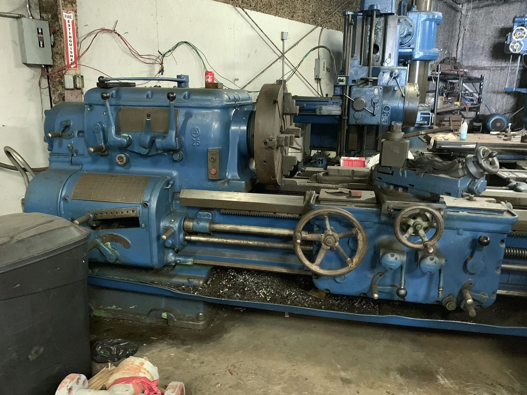 "USED, 28"" X 72"" AXELSON MODEL 25 ENGINE LATHE"