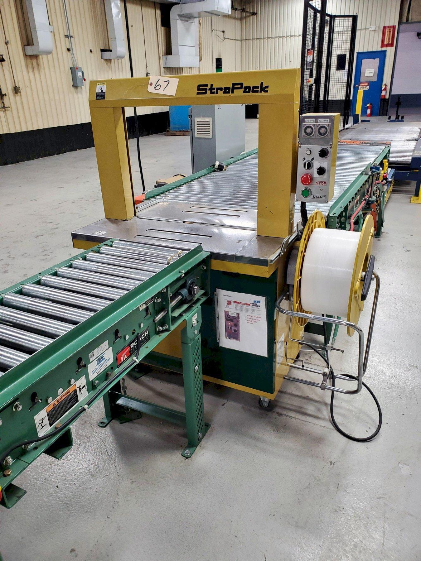 USED, STRAPACK MODEL RQ-8 AUTOMATIC STRAPPING MACHINE