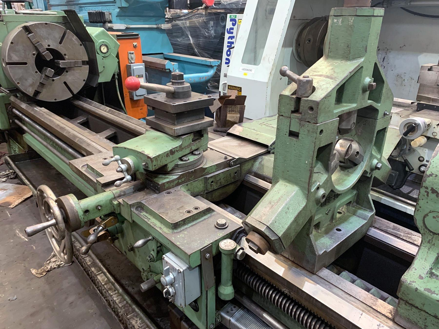 "USED, 27"" x 120"" LEHMANN HOLLOW SPINDLE LATHE WITH 9"" SPINDLE BORE"
