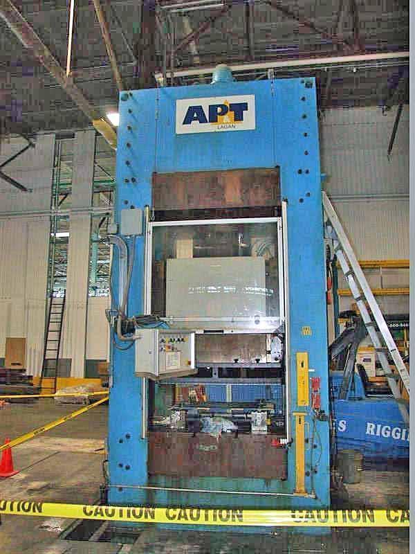 1200 Ton AP & T Blanking, Embossing & Cutoff Line