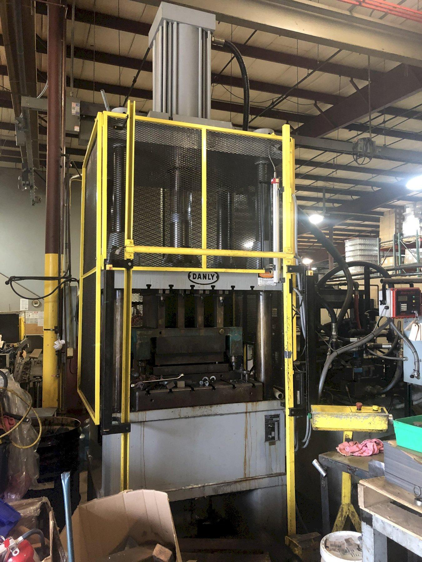 "200 TON DANLY HYDRAULIC PRESS, 36"" X 44"" BED, 24"" STROKE,  53"" DAYLIGHT, UPDATED CONTROLS"