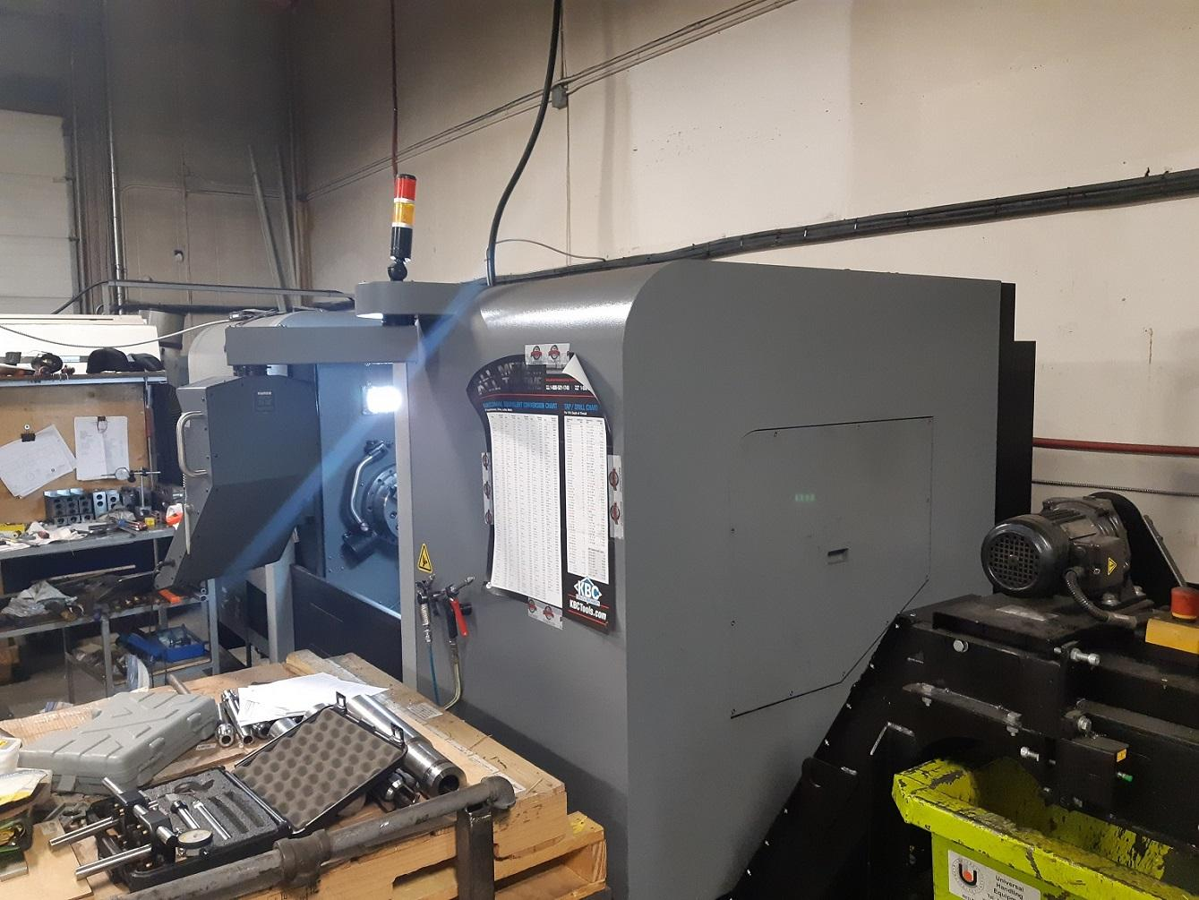 """Hurco TM-12i CNC Lathe, WinMax Classic, 12"""" Chuck, 39.4"""" Centers, 4.09"""" Bar Capacity, 12 Position Turret, Prog. Tailstock, Tool Setter, Rigid Tap, Miscellaneous Holders, Low Hours, 2017"""
