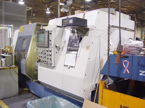 "MORI SEIKI ZL-35MC, Mori Fanuc 16-TT CNC Control, 12"" Chuck, 35"" Centers, Upper and Lower Turrets, Live Tooling, Full C-Axis, 40HP, New 1995."