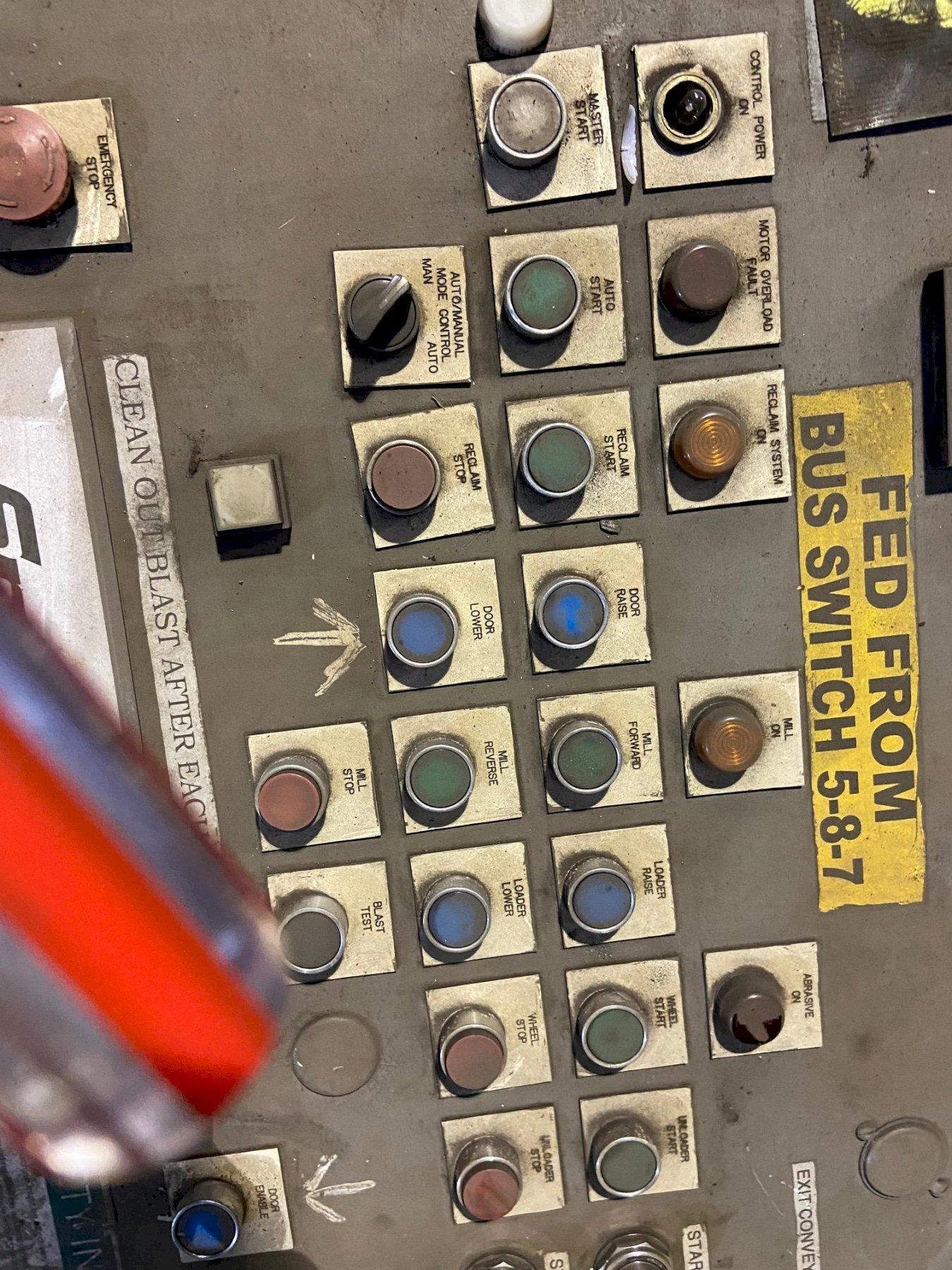 "60"" WHEELABRATOR WMT-60 TABLE TYPE SHOT BLAST MACHINE. STOCK # 0743421"