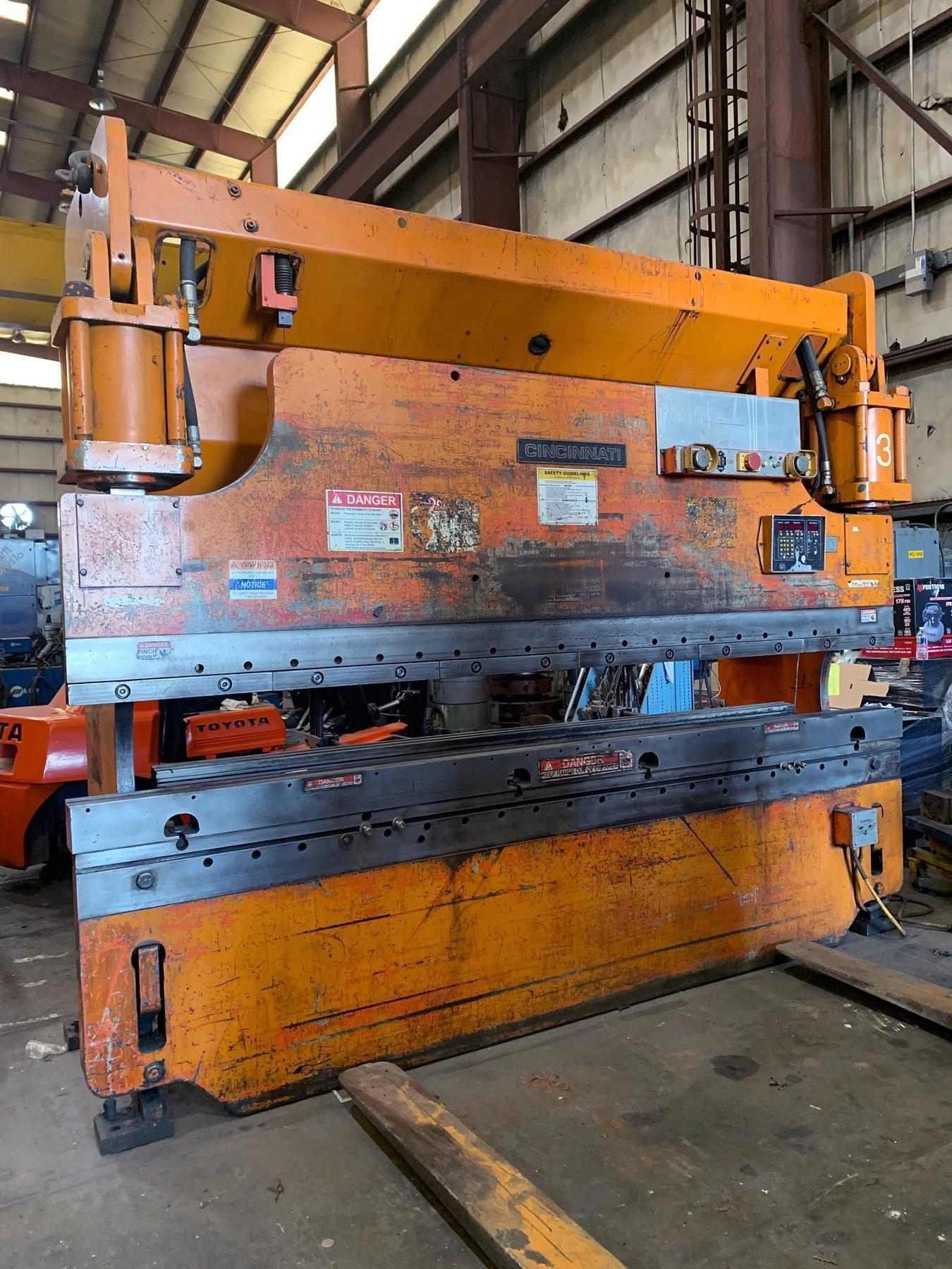 USED, 10' X 175 TON CINCINNATI MODEL 175CB HYDRAULIC PRESS BRAKE