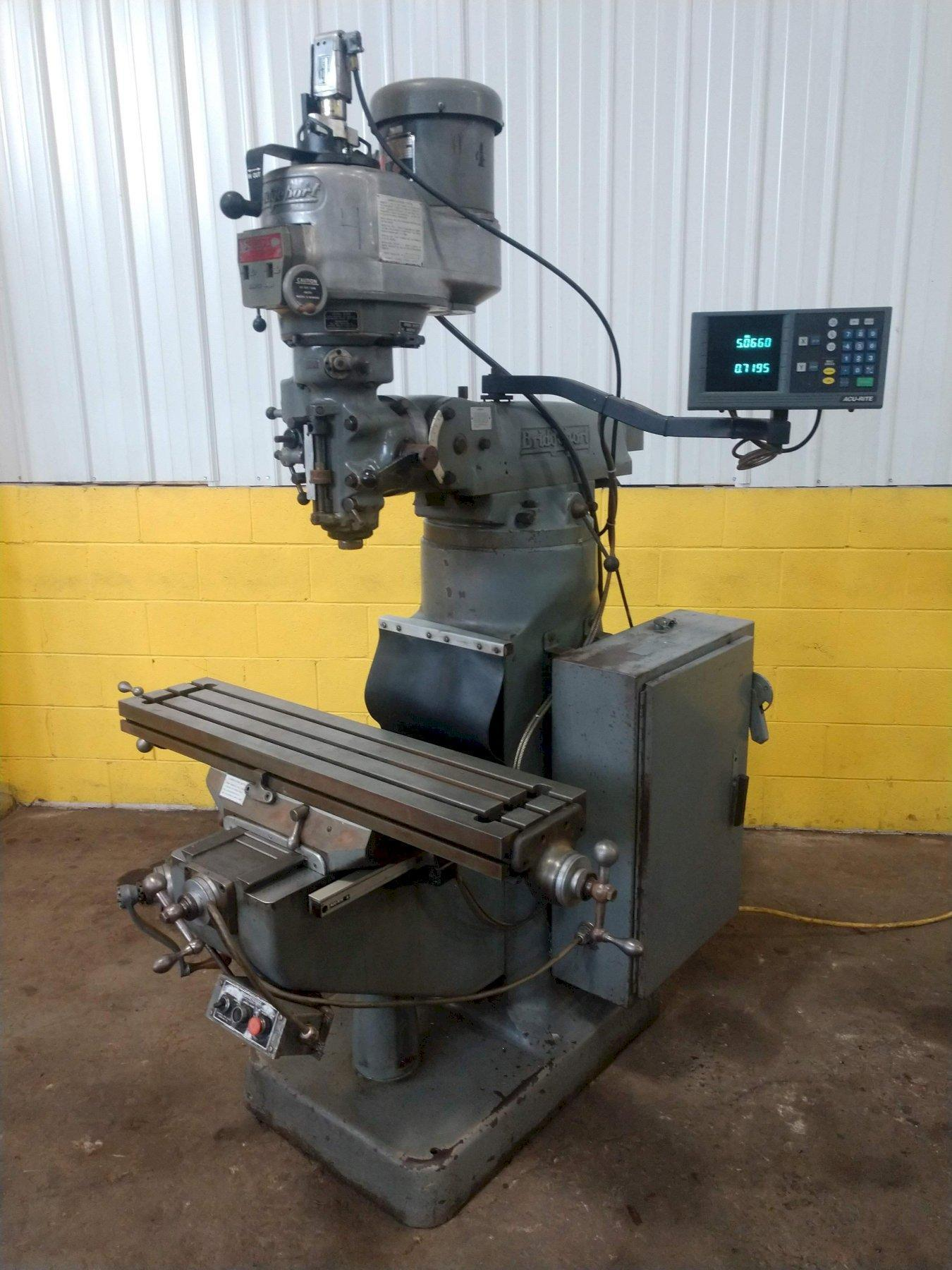 2 HP BRIDGEPORT SERIES I VERTICAL RAM TYPE MILL. STOCK # 0207121