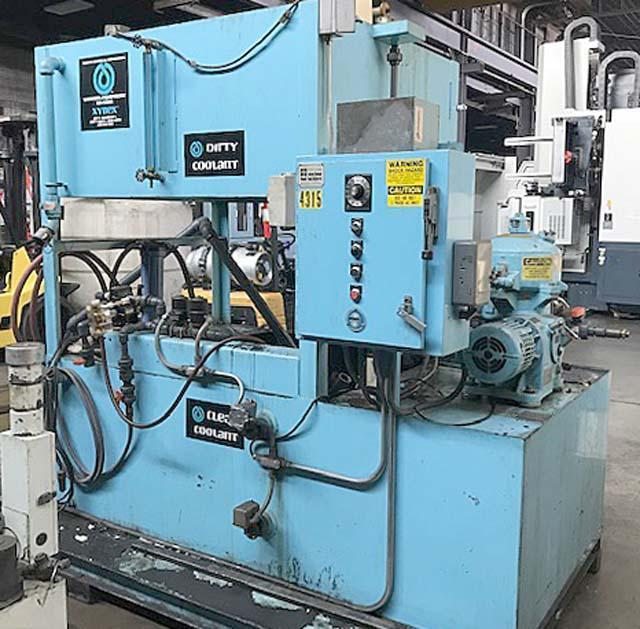 MASTER CHEMICAL / MASTER FLUID SOLUTIONS COOLANT RECYCLING SYSTEM, Model XYBEX 1000, Westfalia Centrifuge, (2) Tanks, 90 gal/hr Capacity, Pumps and Oil Skimmer, New 1990.