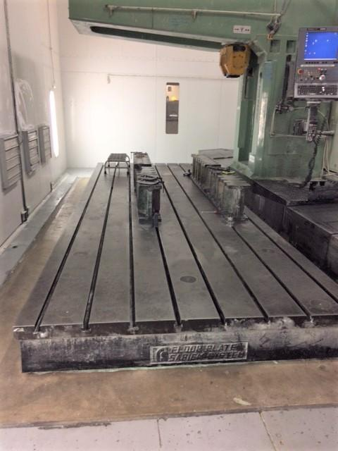 "79"" X 19' CAST IRON T SLOTTED FLOOR PLATE. STOCK # 0954920"