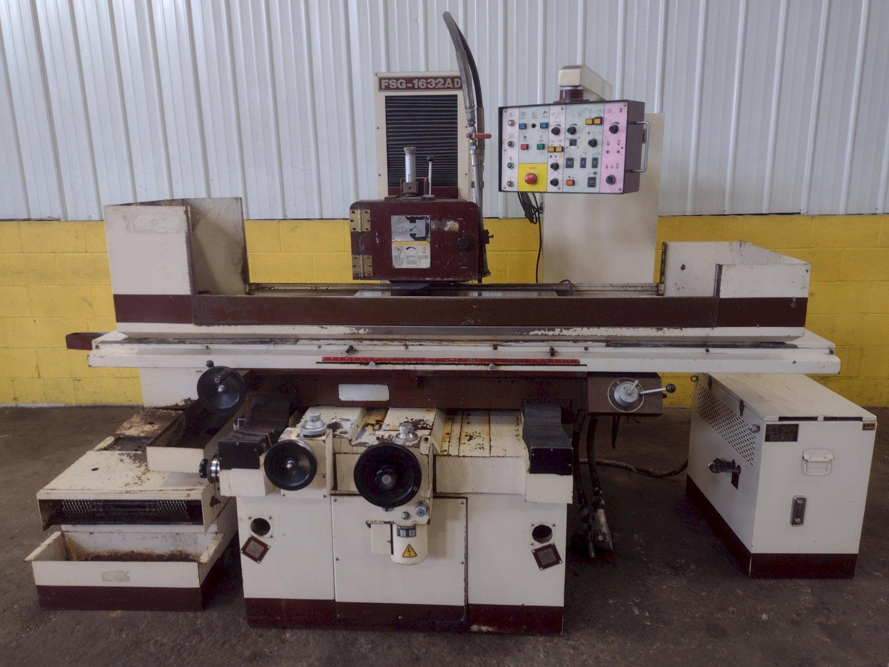 """16"""" x 32"""" CHEVALIER MODEL #FSG-1632AD AUTOMATIC HYDRAULIC HORIZONTAL SURFACE GRINDER: STOCK 15103"""