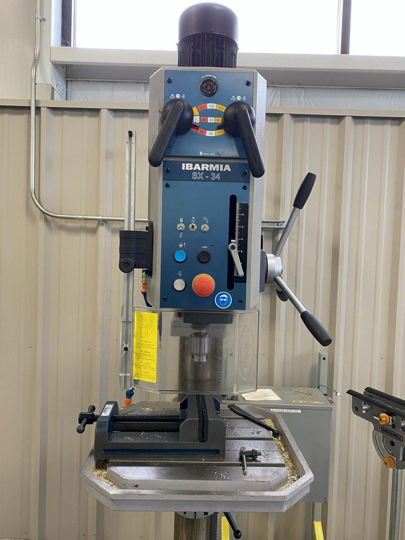 USED CLAUSING IBARMIA GEAR HEAD FLOOR STANDING DRILL PRESS MODEL SX34, Year: 2011, Stock# 10840