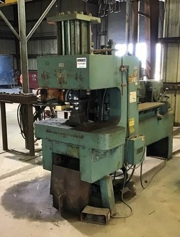 130 TON HMI (HYDRAULIC MACHINES INC) MODEL #130-31 HYDRUAULIC IRONWORKER: STOCK #14065