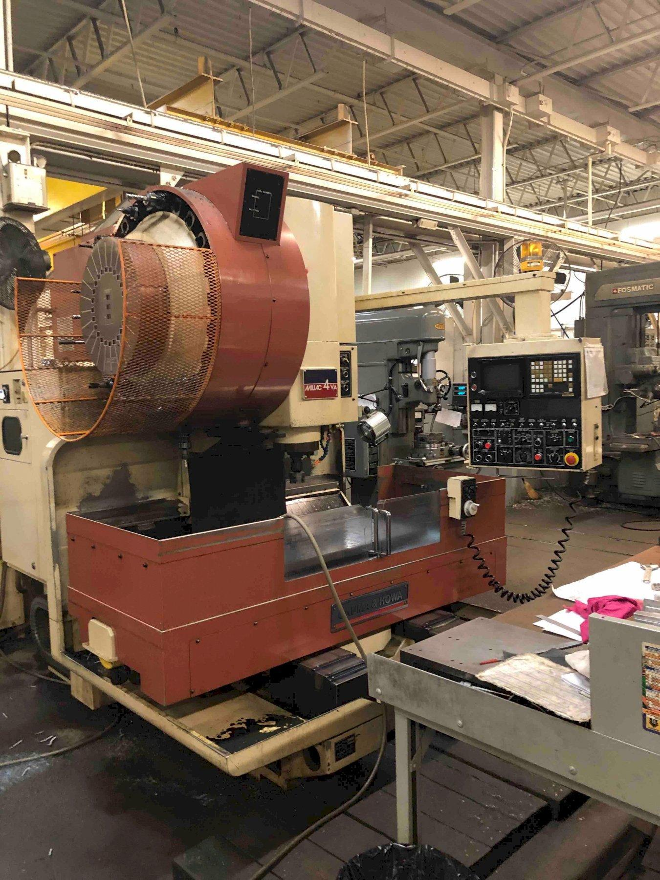 OKUMA & HOWA MILLAC 4VA CNC VERTICAL MACHINING CENTER, FANUC CONTROLS, TOOL CHANGER