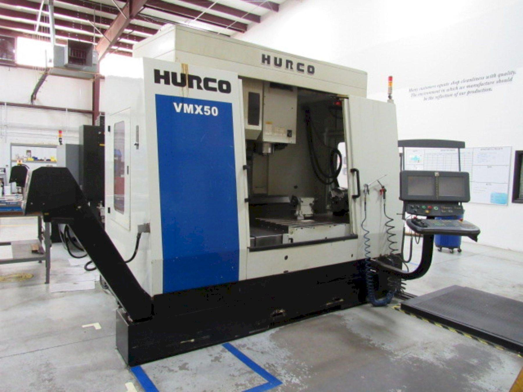 "Hurco VMX50/50 CNC Vertical Machining Center, WinMax Control, 50""/26""/24"" Travels, 50 Taper, 8K, 30 ATC, 12"" Rotary Table w/TS, Many Control Options, Low Hours, 2012"