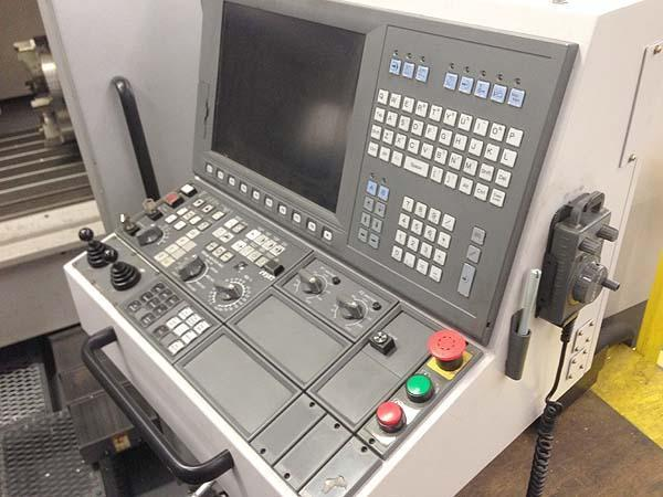 """OKUMA MILLAC 852V, Okuma OSP P200L CNC, X=80.71"""", Y=33.46"""", Z=29.53"""", 86.6"""" x 33.4"""" Table, 36 Station Tool Change, 15"""" 4th Axis Rotary Table, Cat-50, 6000 RPM, New 2008."""