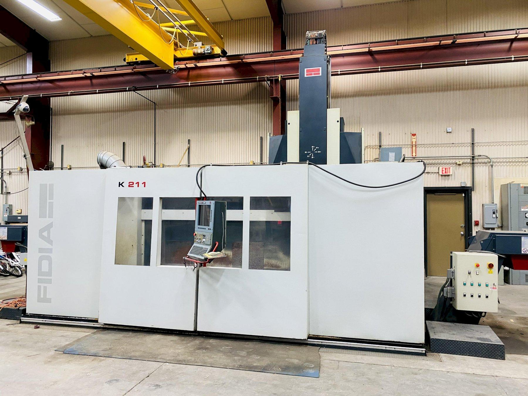FIDIA MODEL K211 5-AXIS HIGH SPEED MACHINING CENTER W/ XP OPERATING SYSTEM. STOCK # 1264320