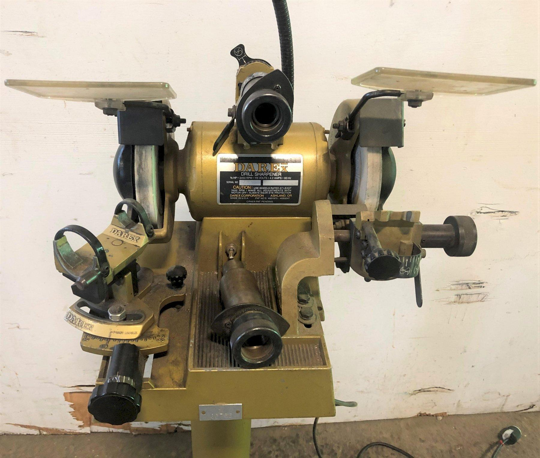 "Darex Drill Sharpener M5, 1/16"" - 3/4"" Capacity, Pedestal, 1 Phase, Nice"