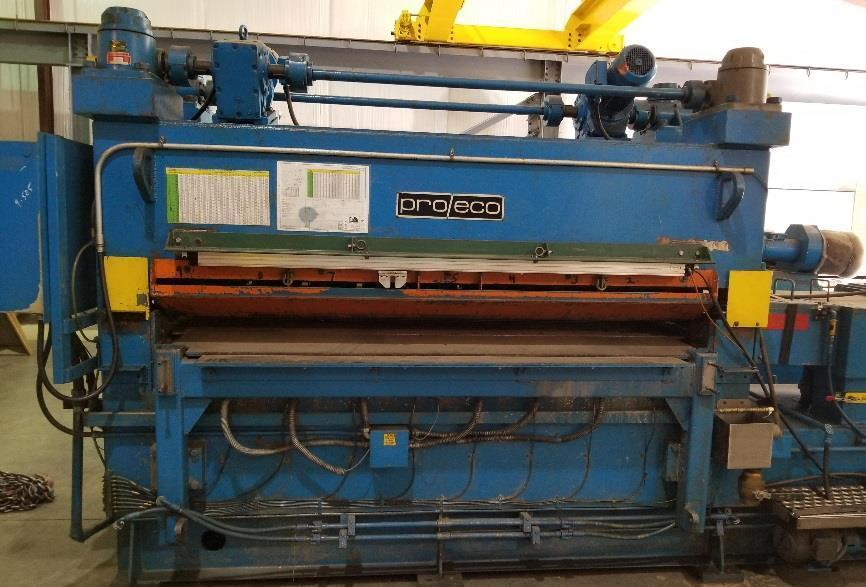 "72"" x .125"" x 40,000# Stamco Aluminum Slitting Line"