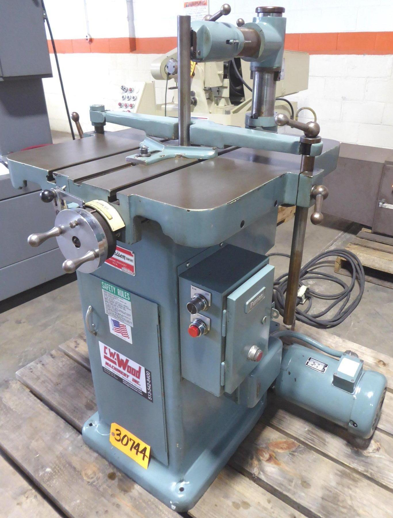MORRISON Keyseater, 1/16″ to 1-1/4″ x 9″L Capacity, Tooling, 2 HP, Excellent Condition
