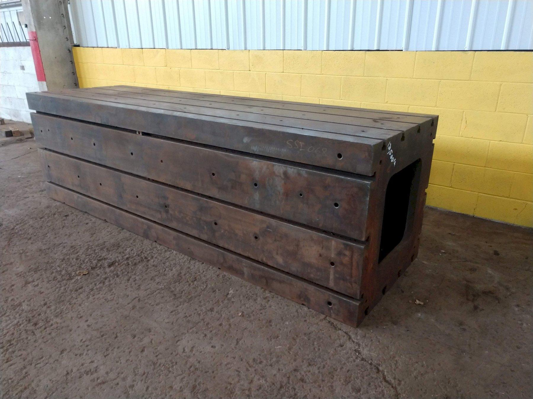 """120"""" X 36"""" X 36"""" HIGH T-SLOTTED HEAVY DUTY TABLE / RISER: STOCK #12304"""