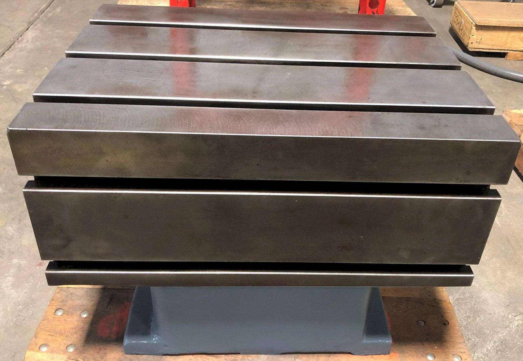 Box Drill Table, 18″ x 24″ Top (3) T-Slots, 10″ x 24″ Side (2) T-slots, 18″H, New-Never Used