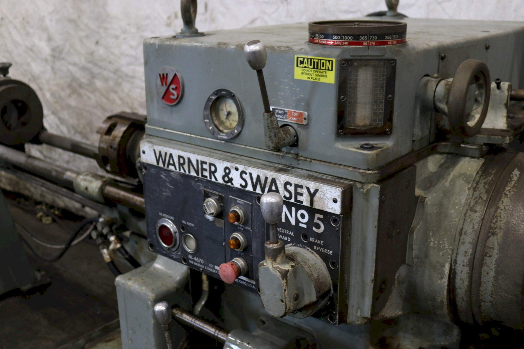 #5 WARNER & SWASEY RAM TYPE SQUARE HEAD TURRET LATHE: STOCK #73132