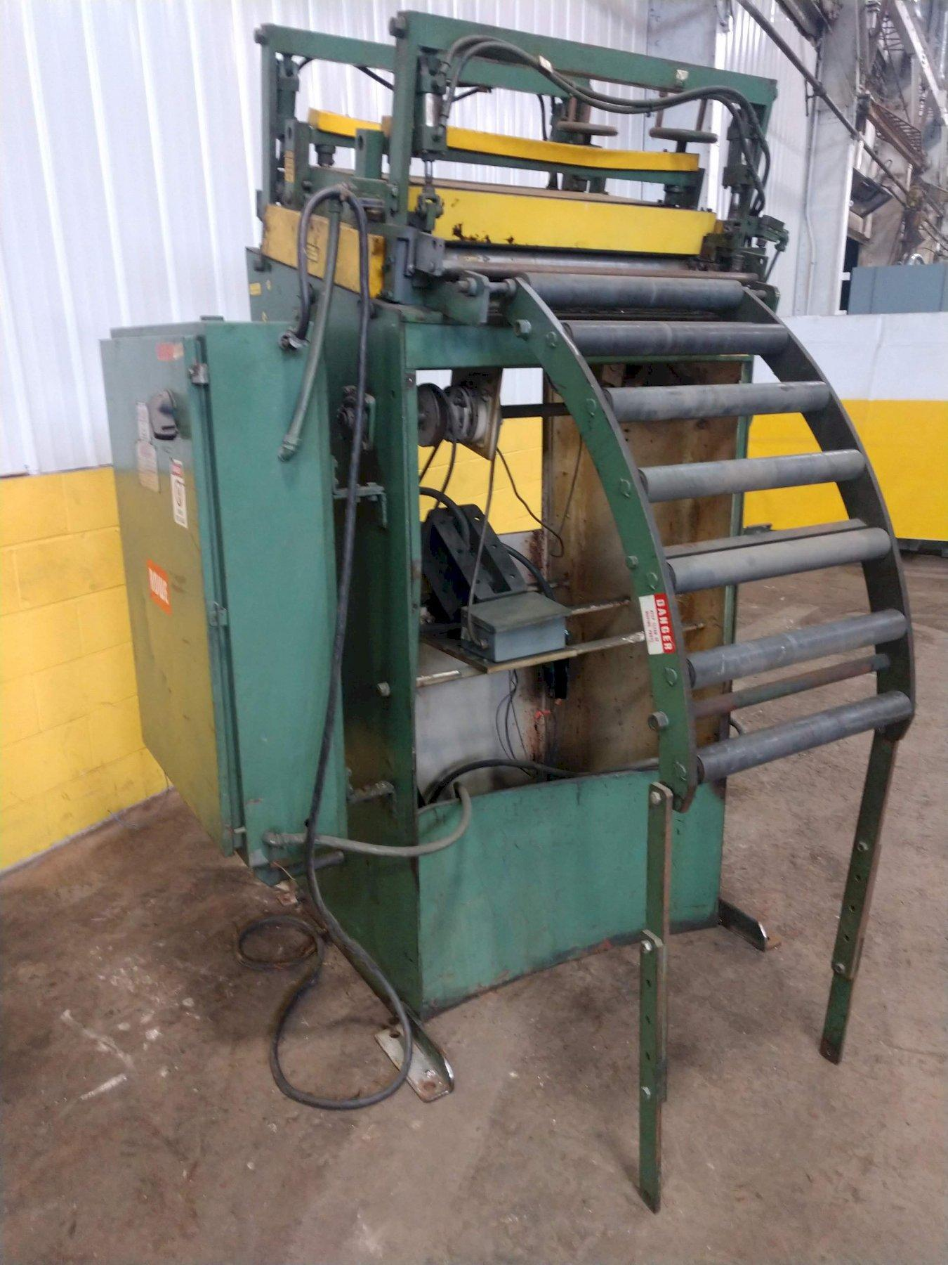 """30"""" WIDE X .065"""" ROWE 7 ROLL POWERED COIL STRAIGHTENER: STOCK #13903"""