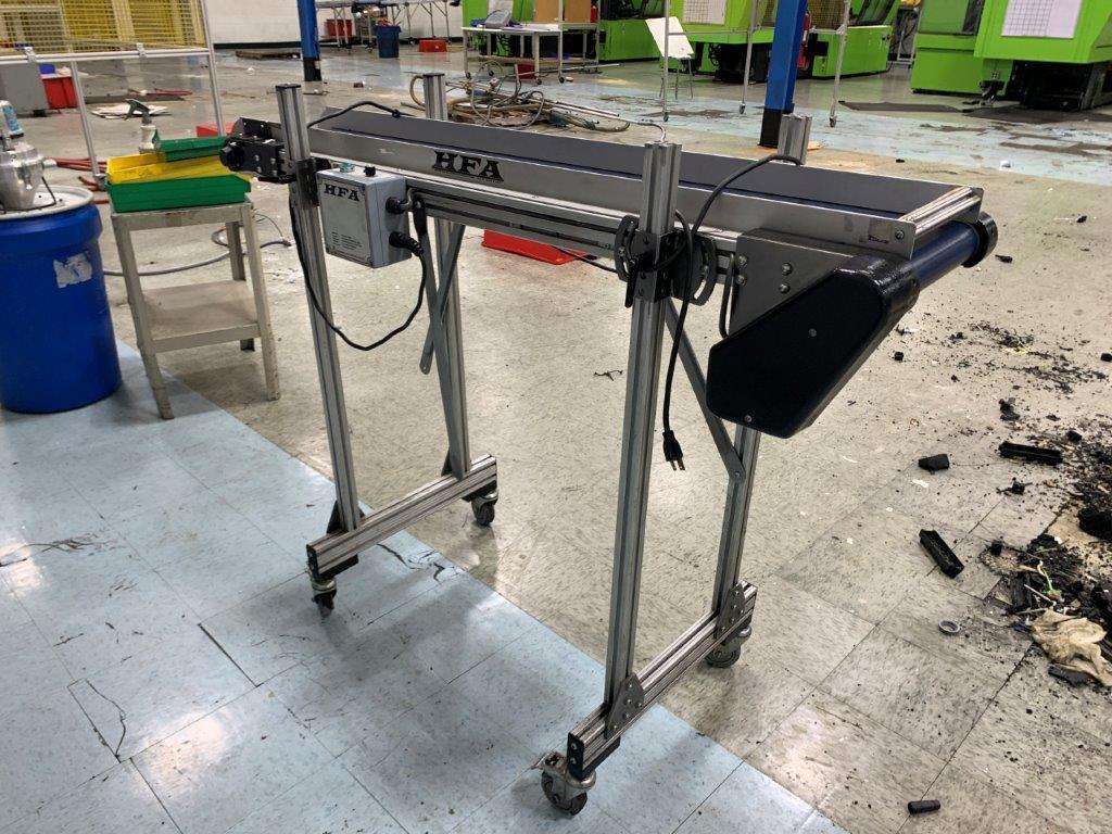 HFA Used 2210 Variable Speed Horizontal Conveyor, 10 in wide x 10ft long, 115V