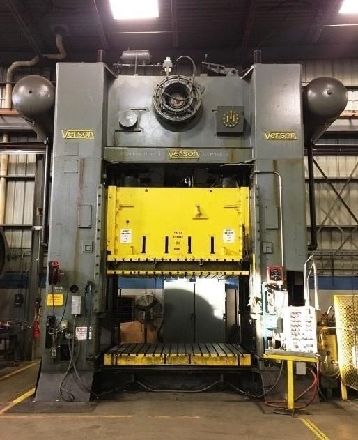 600 TON VERSON MODEL #S4-600-108-72 STRAIGHT SIDE SSDC PRESS