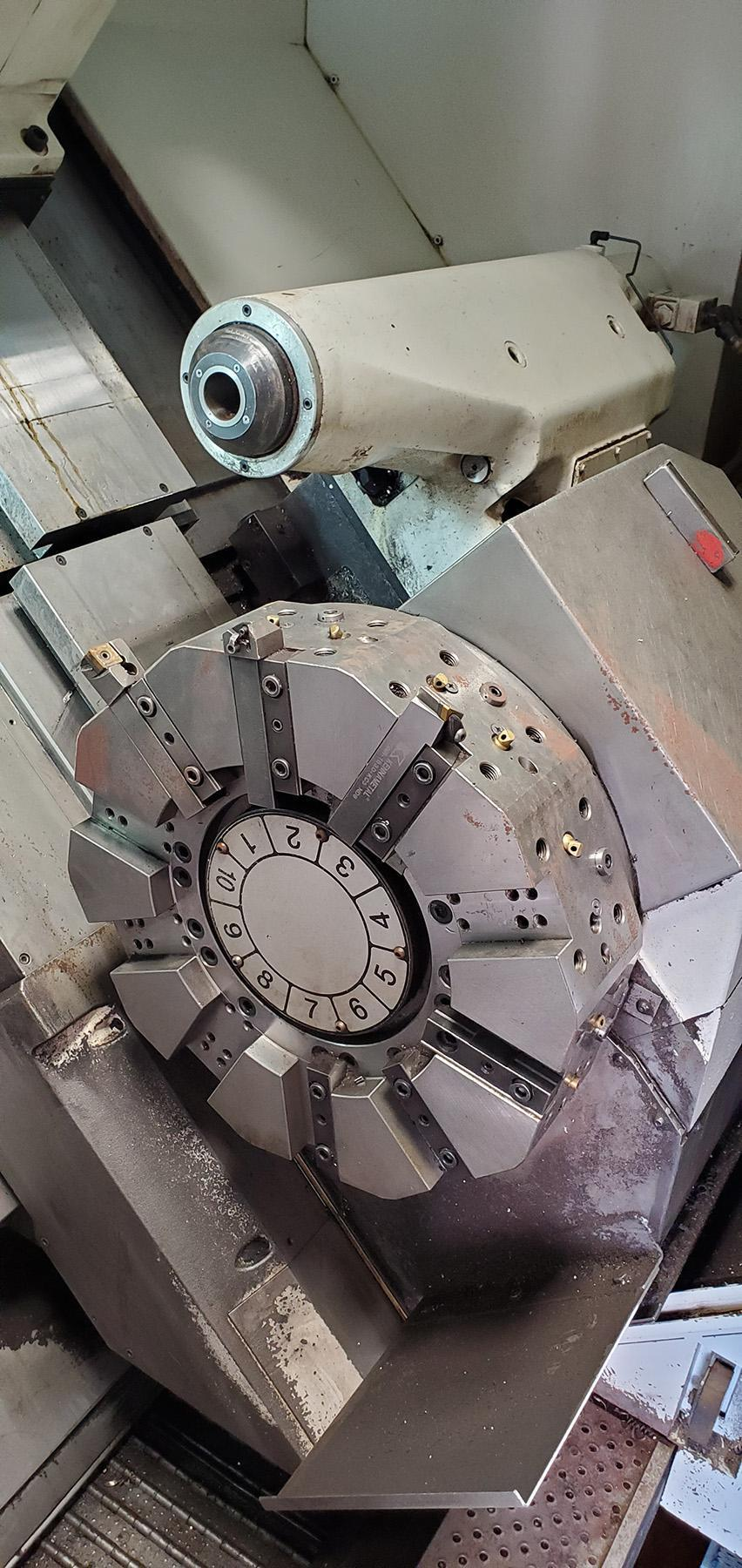 USED, OKUMA LU35-II SUPER BIG BORE FOUR AXIS CNC LATHE, 2000 hrs.,  2014/2018