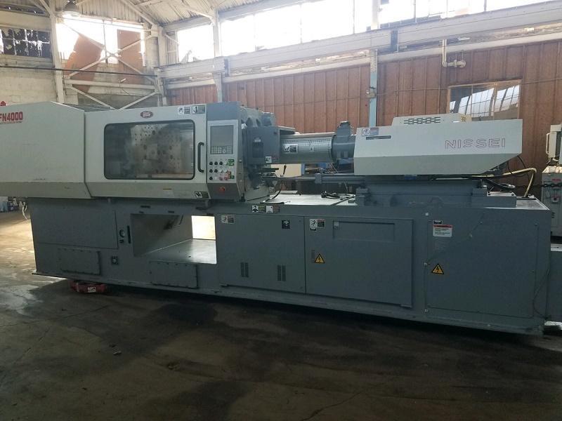 Nissei Used FN4000-36A Injection Molding Machine, 196 US ton, Yr. 2004, 14.8 oz., 460V