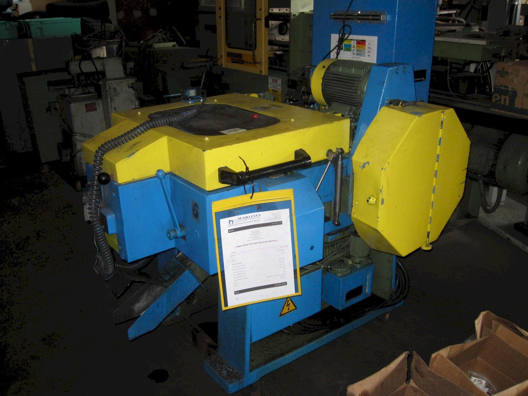 Wafios Model N31 High Speed Nail Machine