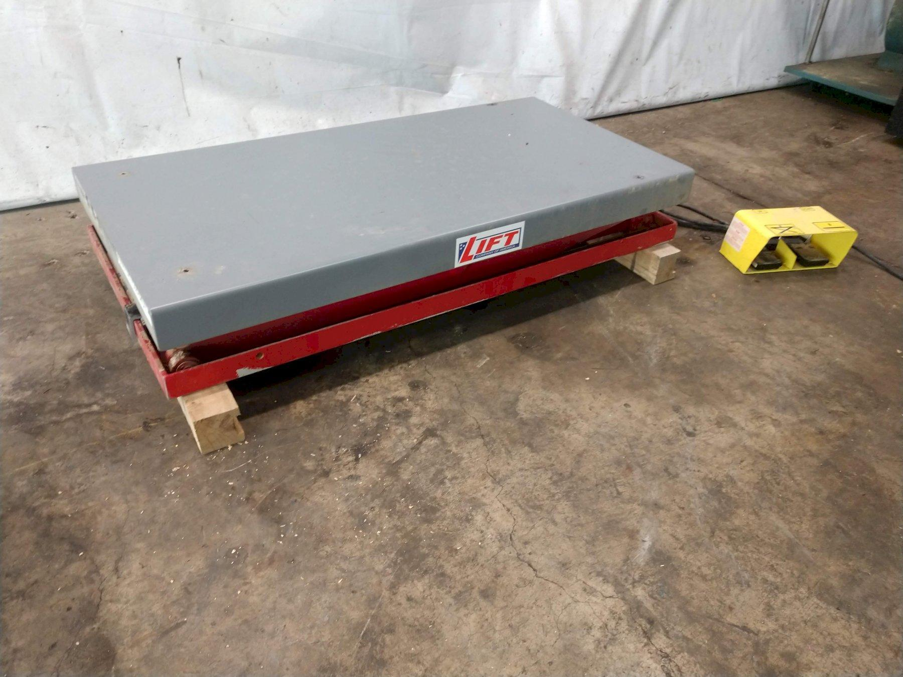 "3,000 LBS X 24"" X 48"" LIFT MODEL #BD-36-030 SINGLE PHASE HYDRAULIC SCISSOR LIFT TABLE: STOCK #12691"