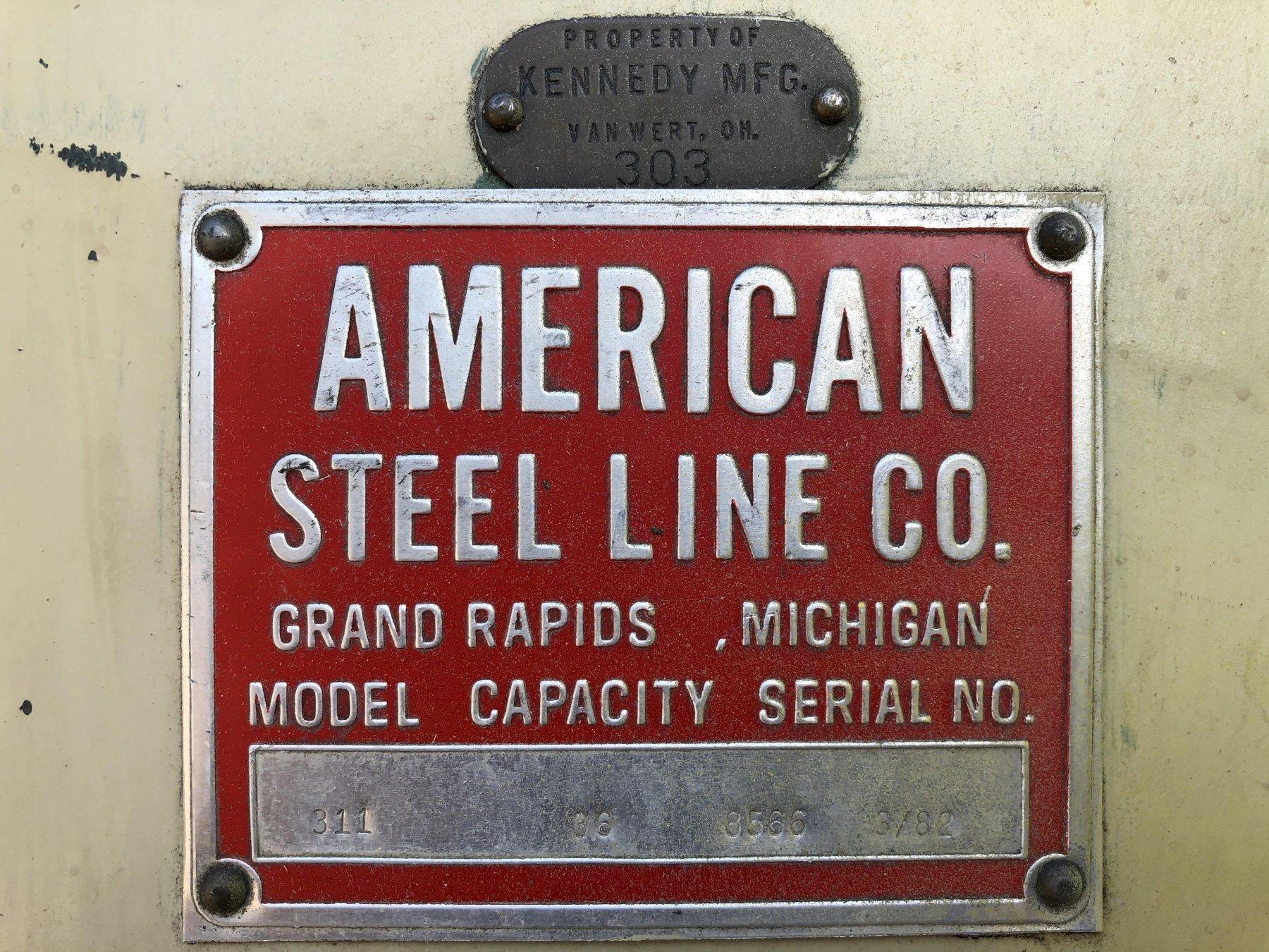 "36"" x 18 GA AMERICAN STEEL LINE 7-ROLL COIL STOCK STRAIGHTENER"