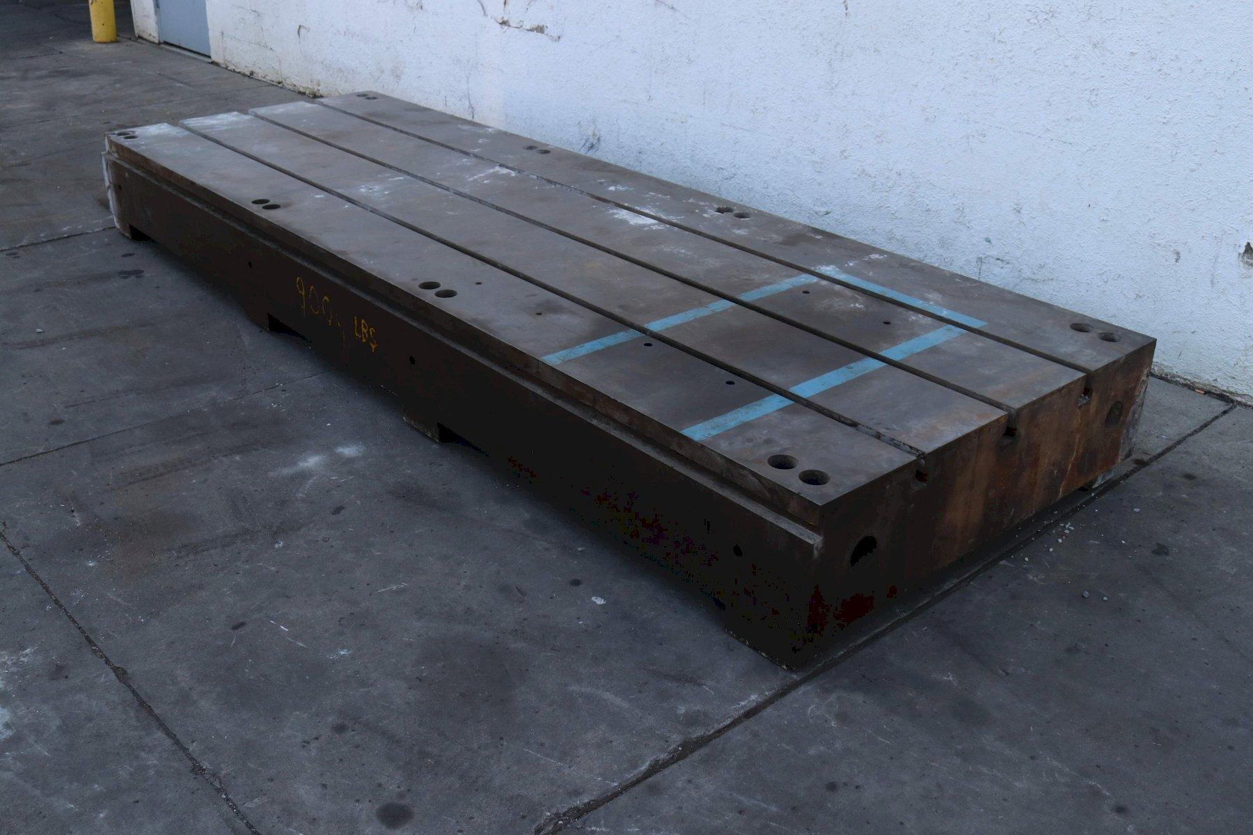 144' X 48' WIDE X 12-1/2' THICK T SLOTTED FLOOR PLATE; STOCK #73254