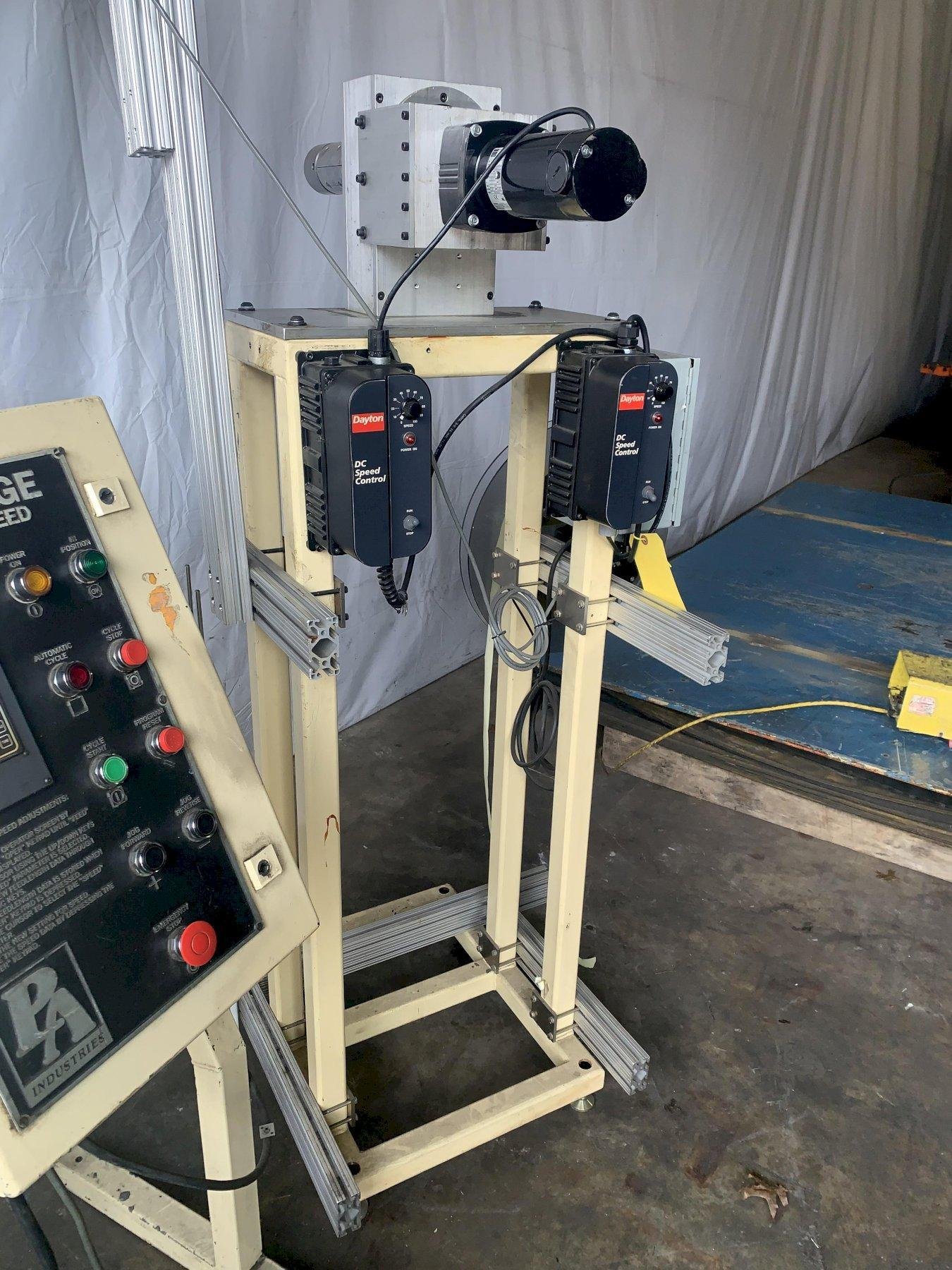 2 SPINDLE MOTORIZED TAPE UNCOILER REEL: STOCK 10715