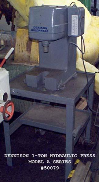 1 PREOWNED DENISON 1-TON HYDRAULIC PRESS, MODEL #: A SERIES, S/N: 1254