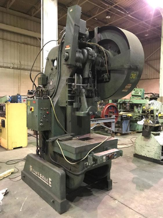 USED ROUSSELLE OBI PRESS, Model #8, 85 tons, Stock No. 10327