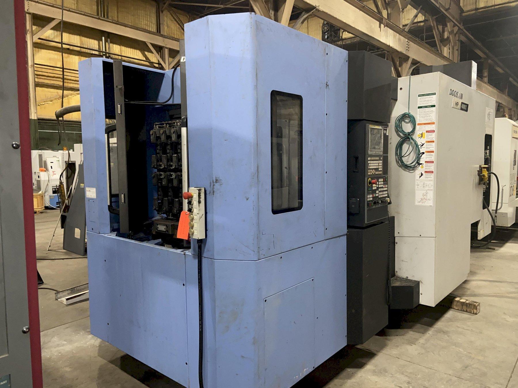 "Doosan HP4000II CNC Horizontal Machining Center, Fanuc 31iMB, 15.75"" Pallets, 14K Spindle, CAT40, CTS, 60 ATC, Hyd Clamp, Tool Breakage Detect, Chip Conveyor, 2016"
