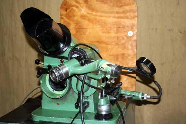 1 Optima Universal Bench Type Optical Drill Grinder, very well tooled, 1985