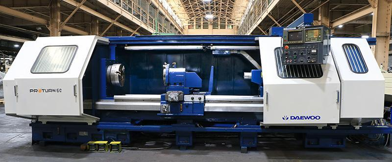 Daewoo Pro-Turn 60/2500 CNC Flat Bed Lathe, Mfg. 1995