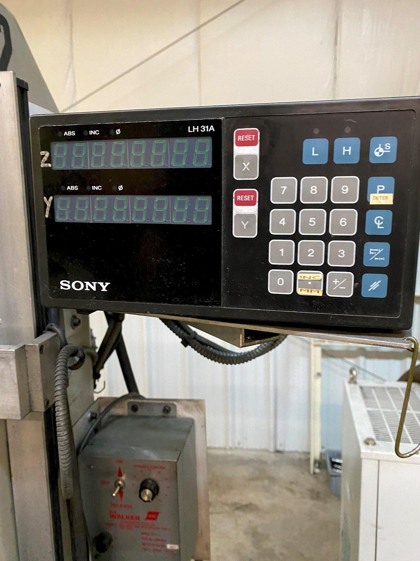 Okamoto Linear 6.12/14 Manual Surface Grinder w/ Sony LH31A 2-Axis Read Outs
