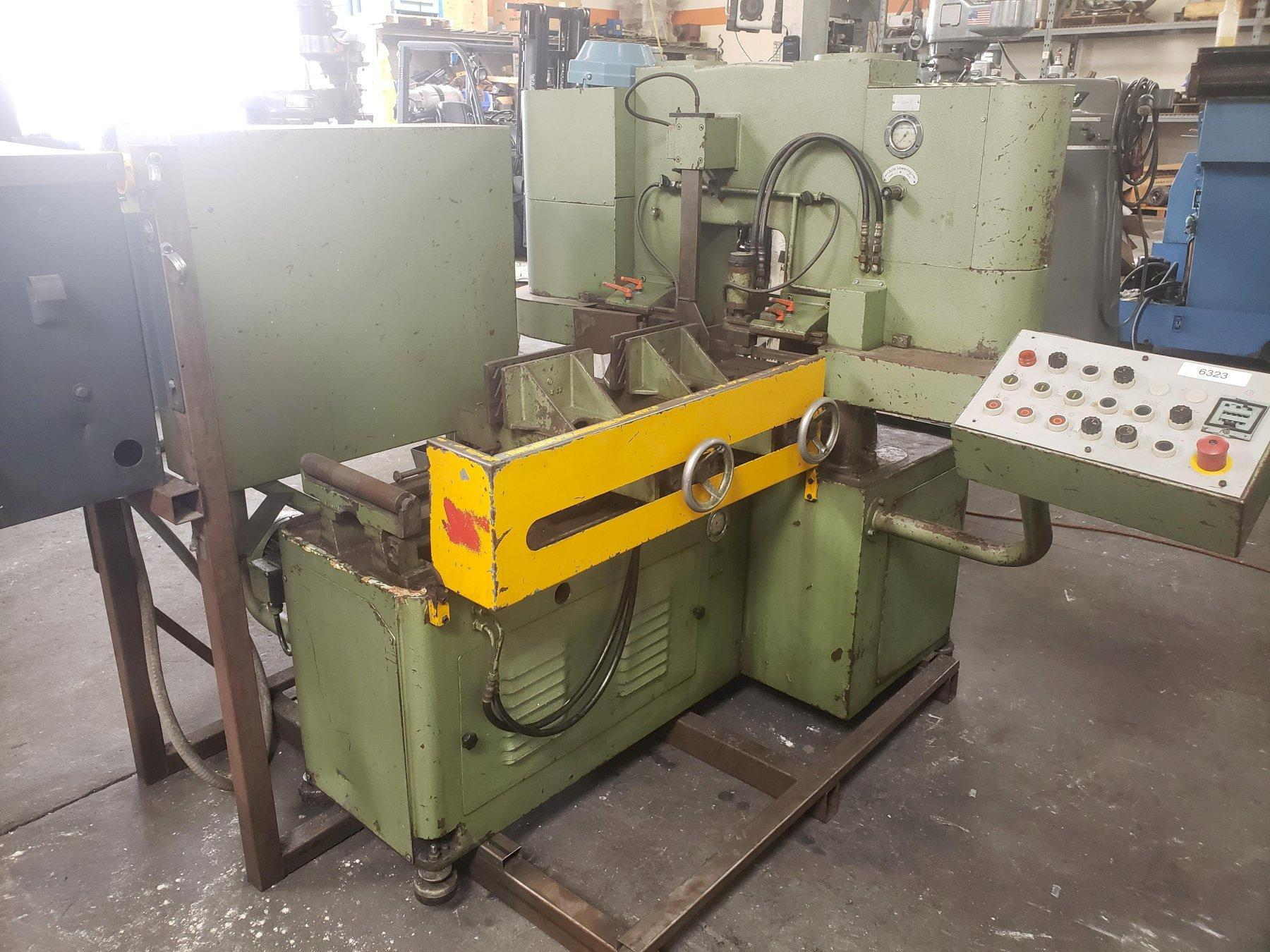 """Forte SBA 240 Fully Automatic Vertical Band Saw 1984 With: 144"""" x 1.06"""" x .035"""" Blade and Coolant System."""