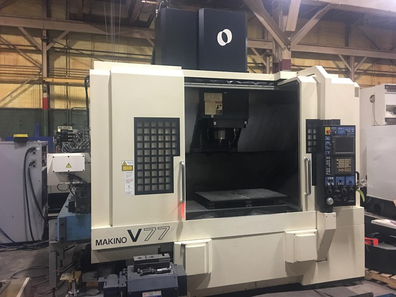 MAKINO V-77 CNC VERTICAL MACHINING CENTER WITH 12