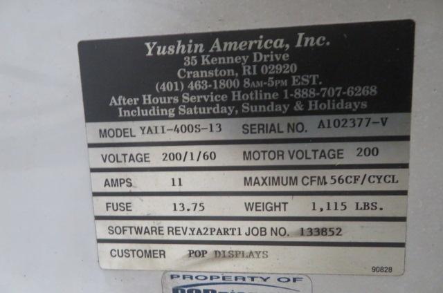 Yushin Used YAII-400S-13 Servo Robot, 280-450, Yr. 2010