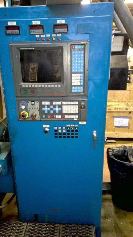 "48"" Campbell, (2) Fanuc 00-M CNC Control, 48"" Table, 60"" Swing, (2) 25 HP Swiveling Spindles, New 1993."