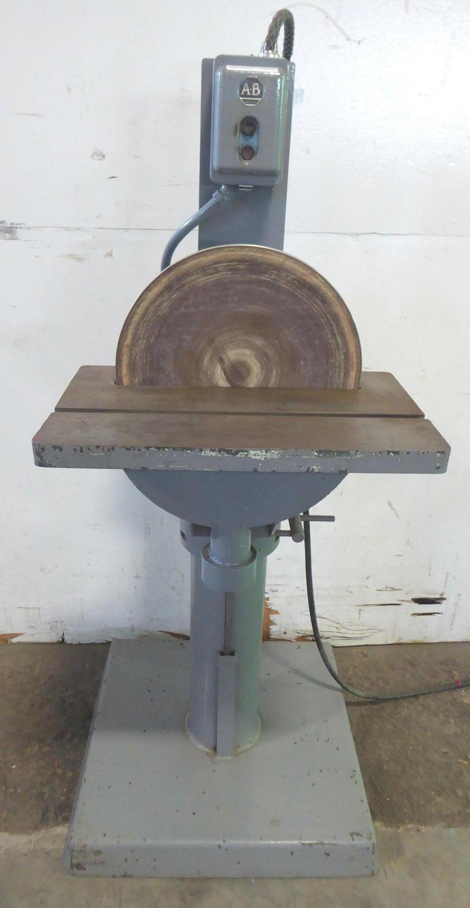 16″ Dayton Disc Sander, 10″ x 22″ Tilt Table, 1 HP, Nice